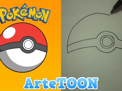 Como Dibujar una Pokeball  - How to draw a pokeball