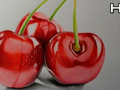 Cómo Dibujar unas Cerezas Realistas Paso a Paso con Lápices de Colores - Tutorial