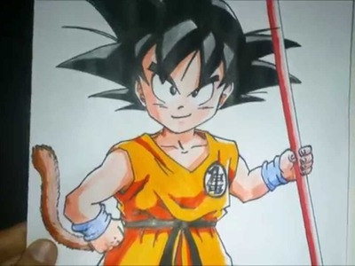 Dibujando a Goku, Como dibujar a Goku, How to draw Goku, Drawing Goku,