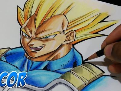Dibujando a Vegeta Super Sayayin - Dragon Ball Z