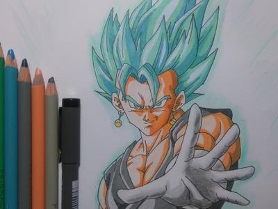 "Dibujando a Veggeto SSj ""dios"" SSj DragonBall Super. How to draw Vegetto SSj God DragonBall Super"