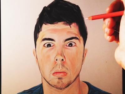 Dibujando a Youtubers   Willyrex con los ojos ABIERTOS