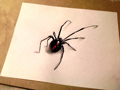 Dibujo 3d - Como dibujar una araña realista 3d - dibujemos tv