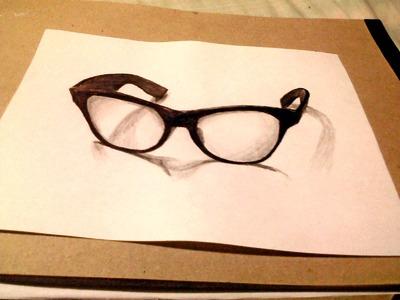 Dibujo 3d - El secreto para dibujar gafas 3d - dibujemos tv