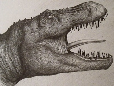 How to Draw Tyrannosaurus Rex. Cómo dibujar un Tiranosaurio Rex a lápiz HD