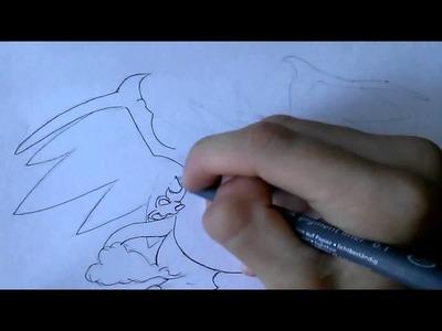SPEED ART   Mega Charizard X
