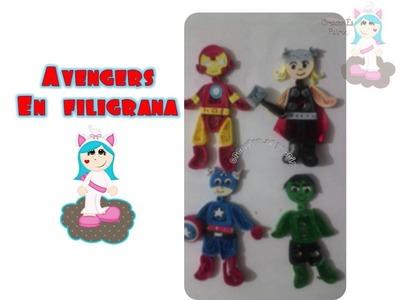 Avengers en filigrana. quilling