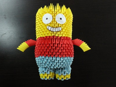 Bart Simpson En Origami 3D TUTORIAL!