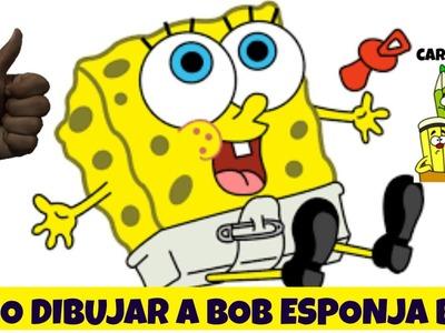 Como Dibujar a Bob Esponja Bebé - How to Draw Spongebob Baby - Cartoon Style