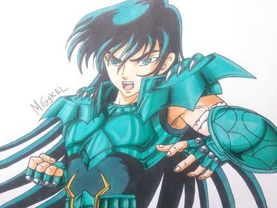 Como dibujar a Dragon Shiryu. How to draw Dragon Shiryu. Saint Seiya