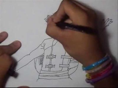 Como dibujar a Gaara del Desierto