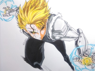 Como dibujar a GENOS (one punch man) how to draw GENOS from one punch man