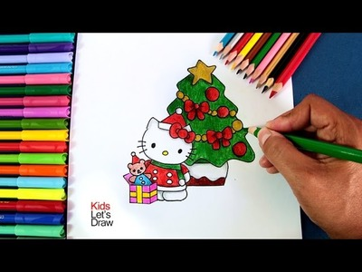 Cómo dibujar a Hello Kitty en Navidad | How to draw Hello Kitty at Christmas