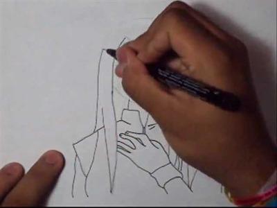 Como dibujar a Kushina Uzumaki