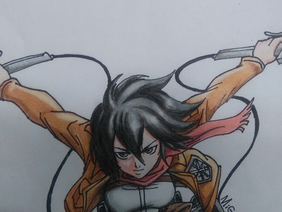 Como dibujar a Mikasa Ackerman. How to Draw Mikasa Ackerman.