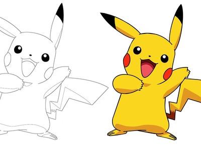 Como dibujar a Pikachu paso a paso