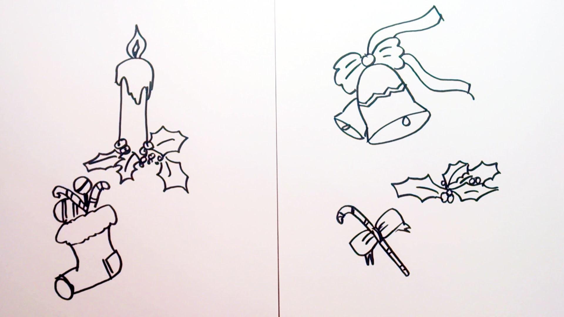 Como dibujar motivos navide os muy f ciles para colorear - Motivos navidenos dibujos ...