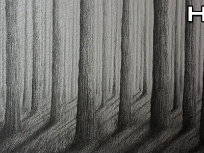 Cómo Dibujar un Bosque a Lápiz Paso a Paso - Cómo Dibujar Árboles