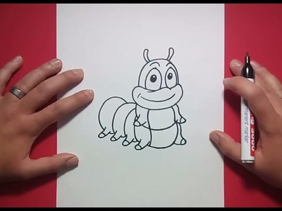 Como dibujar un gusano paso a paso 2 | How to draw a worm 2
