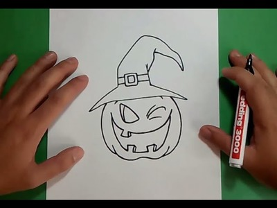 Como dibujar una calabaza paso a paso 5 | How to draw a pumpkin 5
