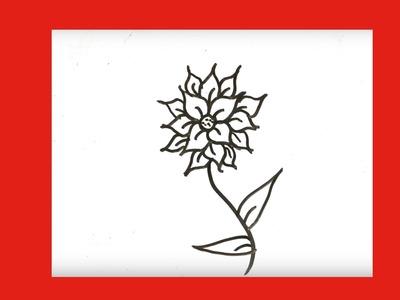 Cómo dibujar una flor facil y bonita paso a paso █ como dibujar flores faciles. dibujo flor