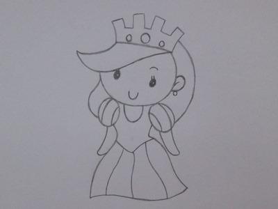 Cómo dibujar una reina
