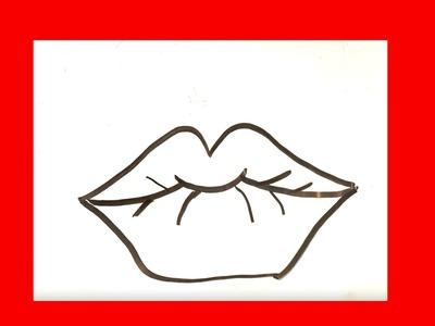 Como dibujar unos labios paso a paso █ Como dibujar labios faciles