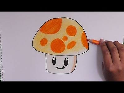Dibujado y Coloreando Sun Shroon (Plantas vs Zombies) - Drawn and Coloring Sun Shroon