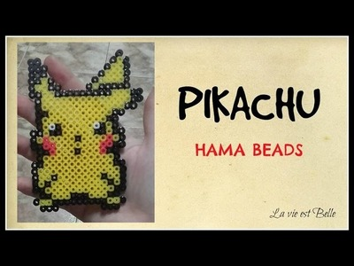 ☆   Tutorial:  PIKACHU de Hama Beads   ☆
