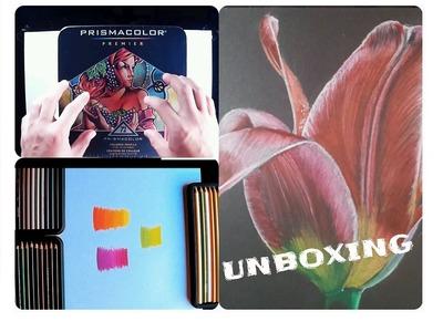 Unboxing Lápices Prismacolor en Español + Prueba DIBUJO