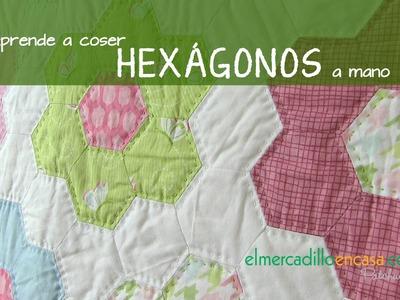 Aprende a coser hexágonos a mano con plantillas de papel