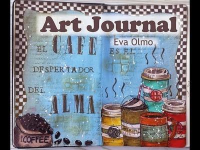 """Art journal: """"Café"""""""