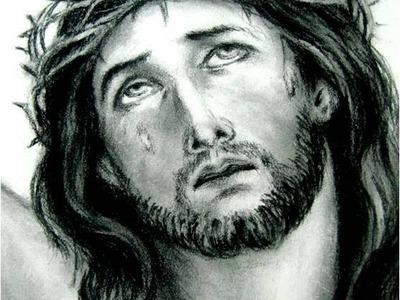 Clases de Dibujo artístico rostro de Cristo