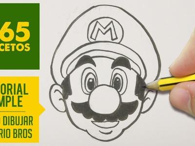 COMO DIBUJAR A MARIO BROS PASO A PASO FACIL - How to draw Mario Bros characters