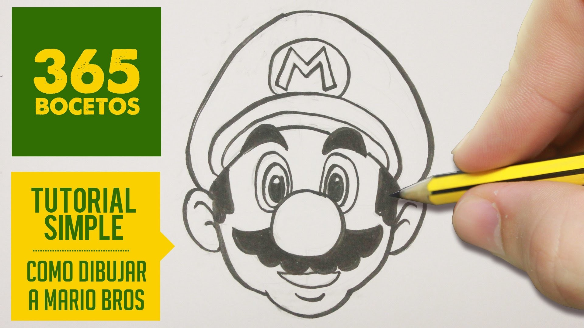 Como Dibujar A Mario Bros Paso A Paso Facil How To Draw Mario Bros