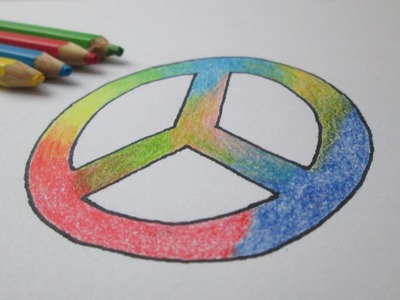 Cómo dibujar el símbolo de la paz (hippie)