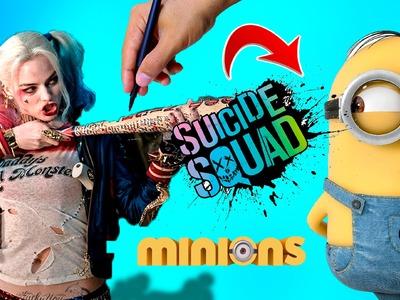 Cómo Dibujar Harley Quinn estilo Minions │Escuadron suicida