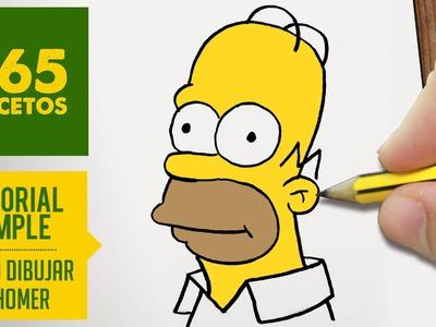 COMO DIBUJAR HOMER SIMPSON. HOMERO PASO A PASO - Los Simpsons - How to draw a Homer Simpson