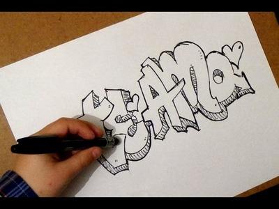 Como dibujar te amo | como dibujar te amo de forma divertida | paso a paso