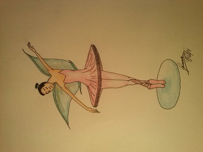Cómo dibujar un hada-bailarina de Ballet--How to draw a Fairy ballet dancer.