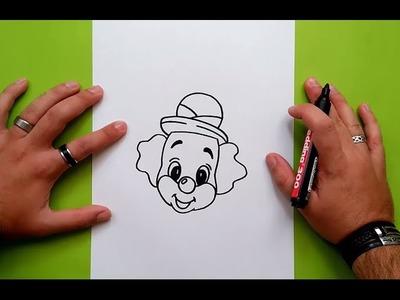Como dibujar un payaso paso a paso 11 | How to draw a clown 11