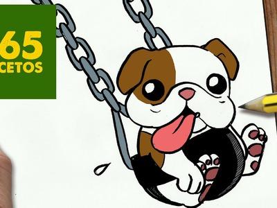 COMO DIBUJAR UN PERRO BULLDOG PASO A PASO: Os enseñamos a dibujar un perro fácil para niños