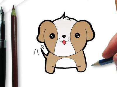 Cómo dibujar un perro kawaii