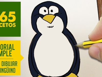 COMO DIBUJAR UN PINGUINO FACIL PASO A PASO KAWAII: Aprender a dibujar para niños y mayores