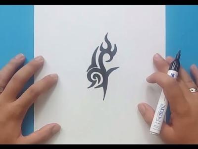 Como dibujar un tribal paso a paso 160 | How to draw one tribal 160