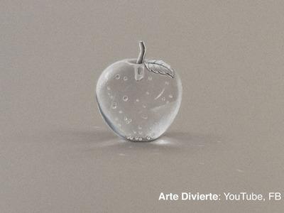 Cómo dibujar una manzana de cristal transparente