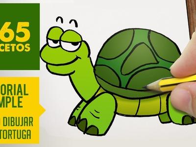 COMO DIBUJAR UNA TORTUGA  FACIL PASO A PASO KAWAII: Aprender a dibujar para niños y mayores