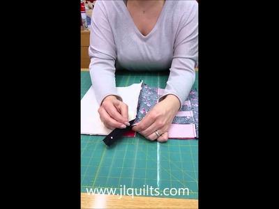 Coser una cremallera en un bolso de patchwork