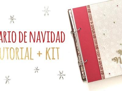 Diario de Navidad   TUTORIAL + KIT