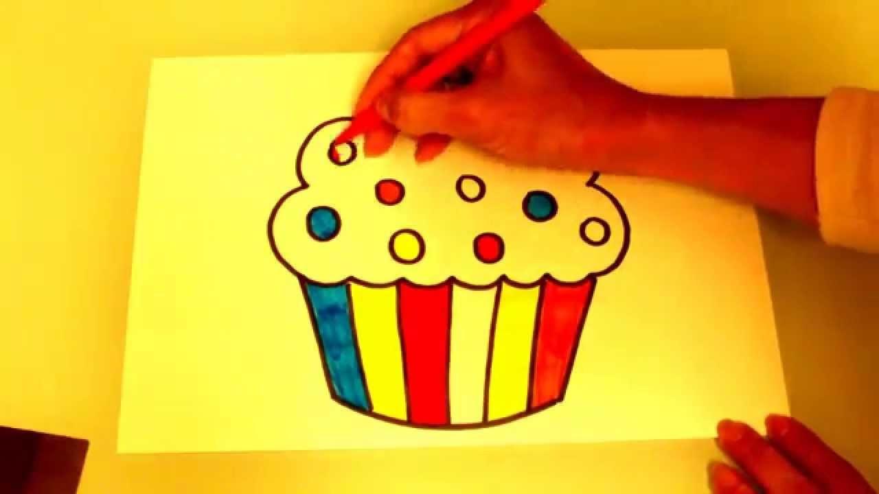 DIBUJA UN CUP CAKE (MAGDALENA) DRAW A CUP CAKE